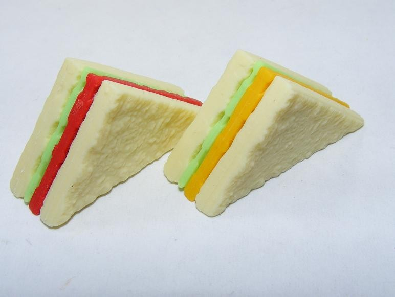 Dream Bakery Pair of Tomato Cheese Sandwich Slices Japanese Eraser