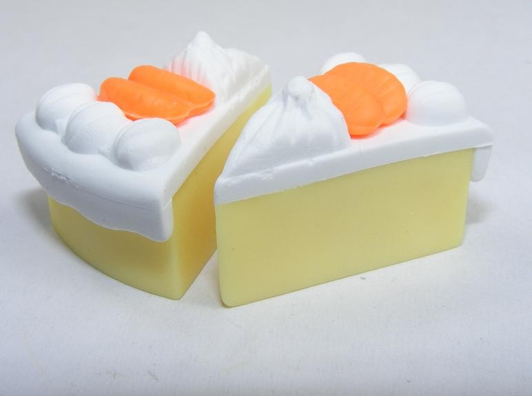 Dream Desserts Creamy White Orange Cake Slices Eraser