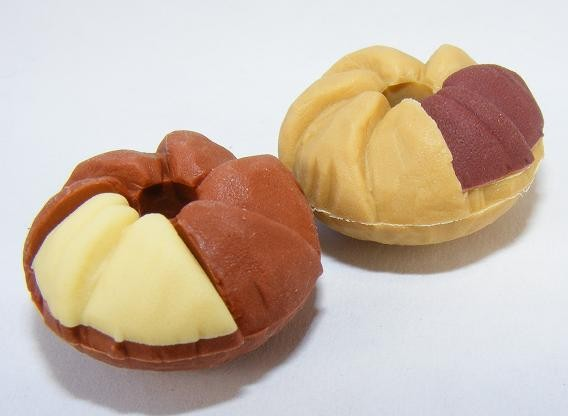 Dream Desserts 2pcs Chocolate Brown Doughnut Japanese Eraser