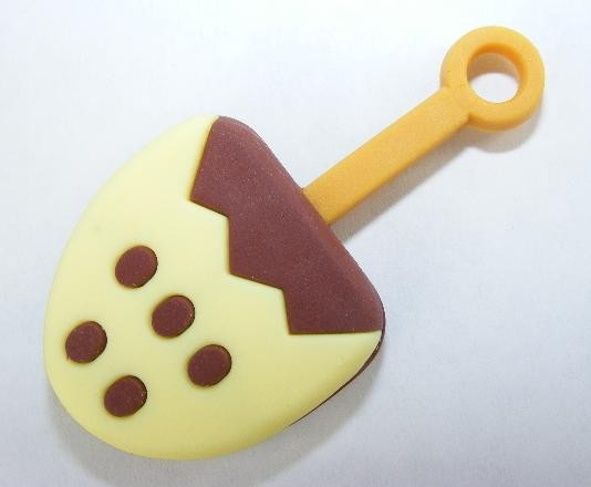 Dream Desserts Yellow Chocolate Lollypop Stick Japanese Eraser