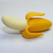 Dream Yellow Peeled Banana Eraser