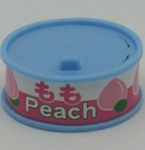 Dream Fruit-in-can Peach Slice Blue Can Eraser