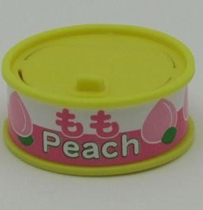 Dream Fruit-in-can Peach Slice Yellow Can Eraser