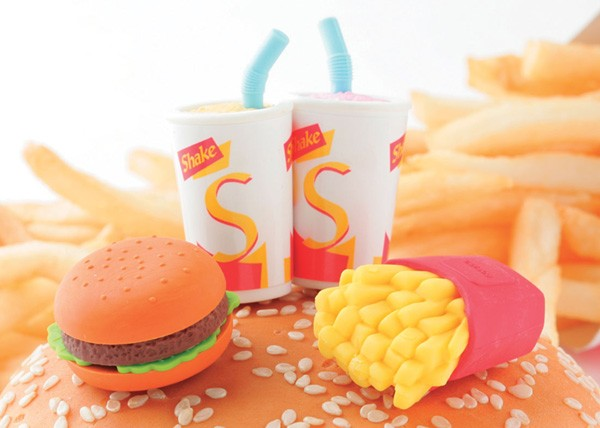 Iwako  Fast Food Hamburger Erasers