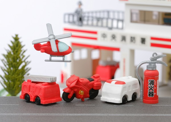 Iwako  Emergency & Fire Engine Erasers