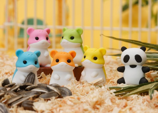 Iwako  Hamsters & Gu Gu the Panda Erasers