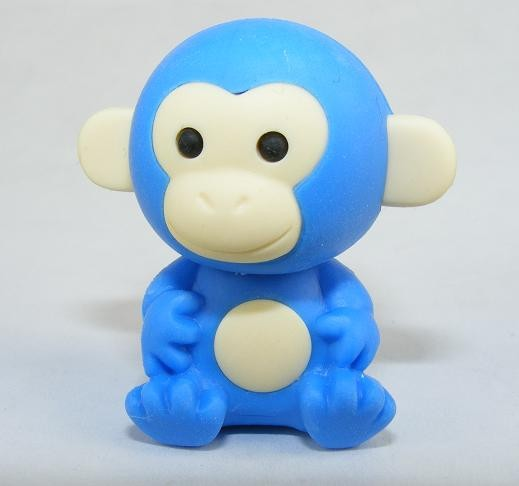Iwako Jungle Paradise: Blue Monkey Japanese Eraser