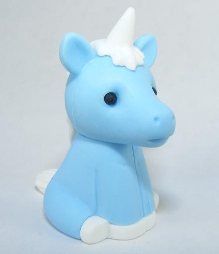 Iwako Jungle Paradise: Light Blue Magical Unicorn Japanese Eraser