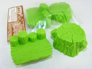 Iwako Green Log Stools (Table & Chair) set Japanese Eraser