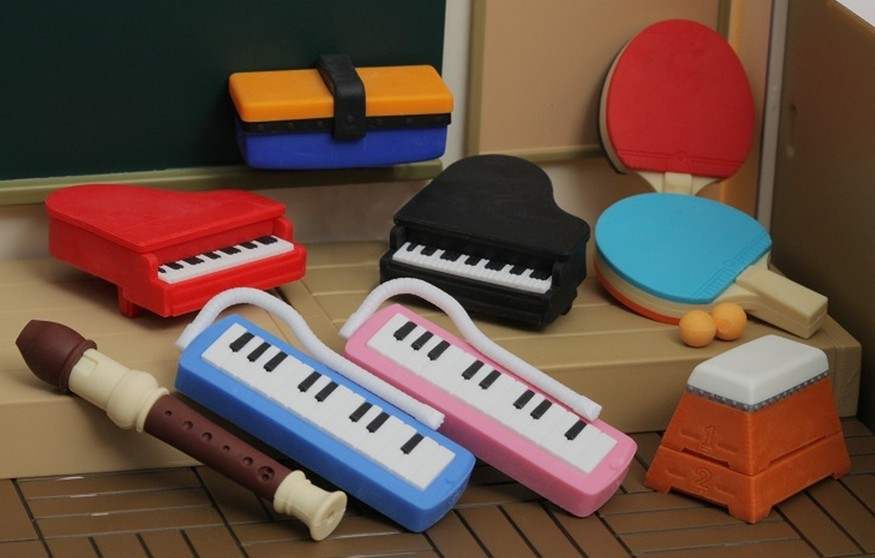 Iwako School Sport Music Instruments Japanese Erasers (6 pieces only - Random mixes)