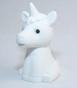 Iwako Pure White Unicorn Japanese Eraser