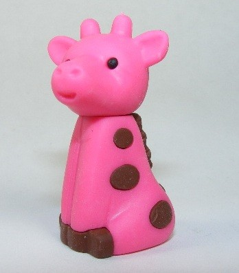 Iwako Zoo Animals Pink Giraffe Japanese Eraser