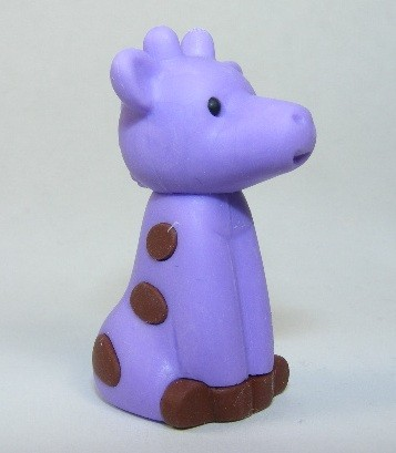 Iwako Zoo Animals Purple Giraffe Japanese Eraser