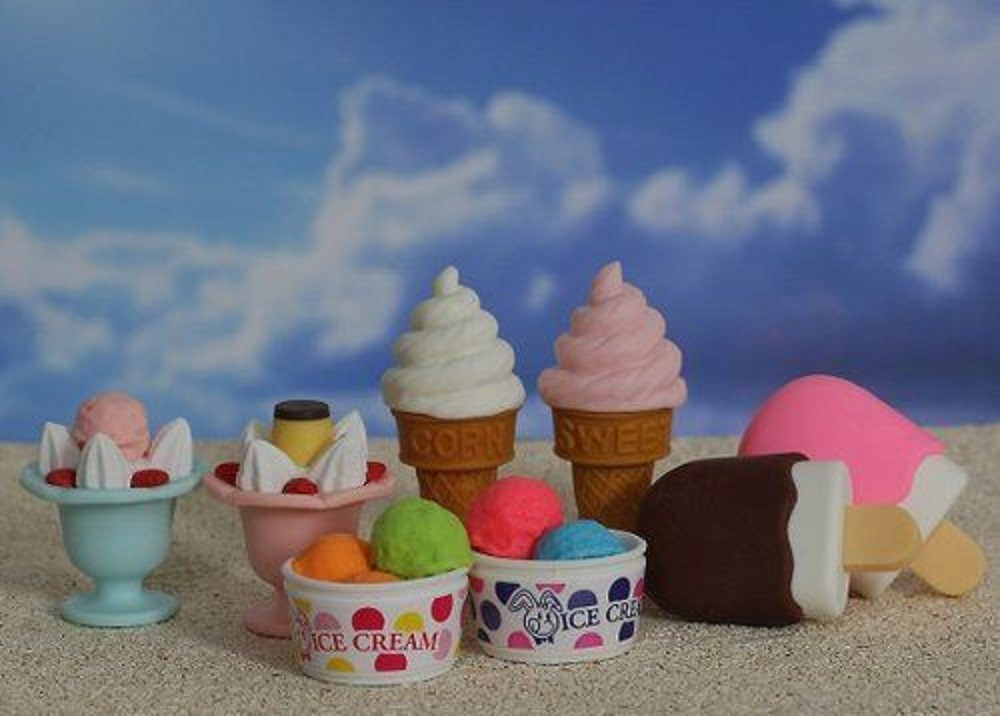 Iwako  Original 8 pcs Ice Cream Japanese Erasers