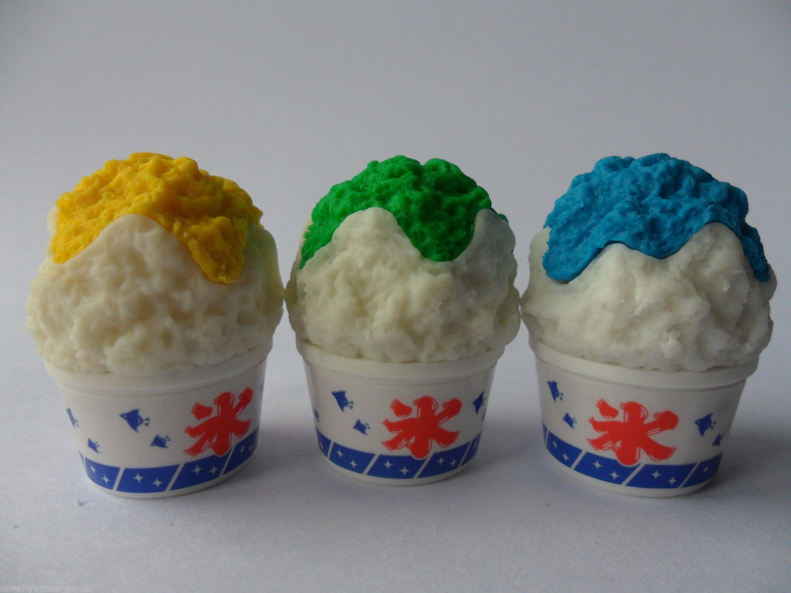 Iwako 3 Colour Topping Shaved Ice Japanese Erasers (3 pieces)