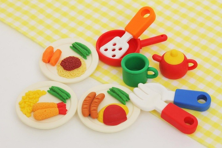 Iwako lunch plates and Cutlery set Japanese Erasers
