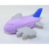 Iwako Purple Blue Aeroplane Japanese Eraser