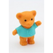 Iwako Green Shirt Brown Teddy Bear Japanese Eraser