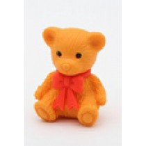 Iwako Red Ribbon Brown Teddy Bear Japanese Eraser