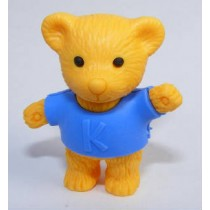 Iwako Blue Shirt Brown Teddy Bear Japanese Eraser