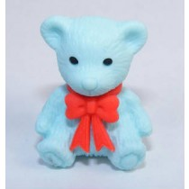 Iwako Red Ribbon Blue Teddy Bear Japanese Eraser