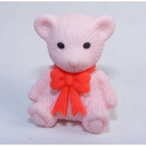 Iwako Red Ribbon Pink Teddy Bear Japanese Eraser