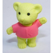 Iwako Pink Shirt Green Teddy Bear Japanese Eraser