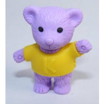Iwako Yellow Shirt Purple Teddy Bear Japanese Eraser