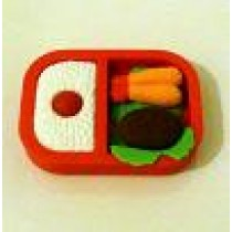 Iwako Red Bento Box: Fried Prawn Steak Rice Japanese Eraser