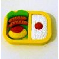 Iwako Yellow Bento Box: Omelette Sausages Rice Japanese Eraser