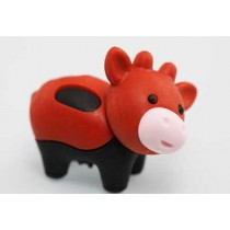 Iwako Zoo Animals Blackfeet Red Moo Moo Cow Japanese Eraser