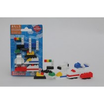Iwako Building block Transports Japanese Erasers Blister Card