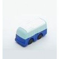 Iwako Blue White top Bus Japanese Eraser