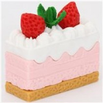 Iwako Creamy Cake Strawberry White Cream Japanese Eraser