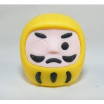Iwako Culture: Yellow Daruma Japanese Eraser