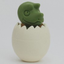 Iwako Green Dino Baby in Egg Japanese Eraser