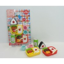 Iwako Japanese Onigari Bento Boxes Set Cups Green Drink Erasers Blister Card