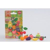 Iwako Fresh Fruits Japanese Erasers Blister Card