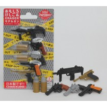 Iwako Model Machine Gun Pistol Bullets Blister Card