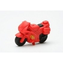 Iwako Red Rescue Motorcycle Motorbike Eraser