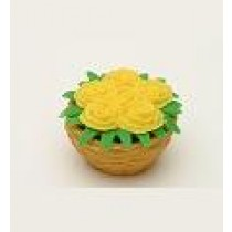 Iwako Yellow flower basket Japanese Eraser