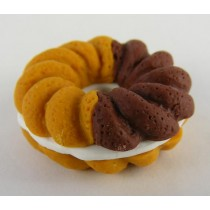 Iwako French Pastry Brown Chocolate Doughnut Cookie Japanese Eraser
