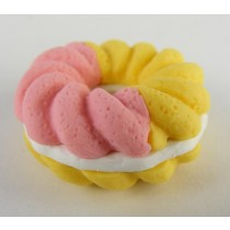 Iwako French Pastry Pink Yellow Doughnut Cookie Japanese Eraser