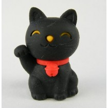 Iwako Lucky Black Good Fortune Cat Japanese Eraser