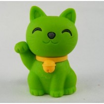 Iwako Lucky Green Good Fortune Cat Japanese Eraser