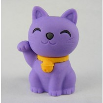 Iwako Lucky Purple Good Fortune Cat Japanese Eraser
