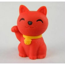 Iwako Lucky Red Good Fortune Cat Japanese Eraser