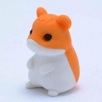 Iwako Orange Hamster Japanese Eraser