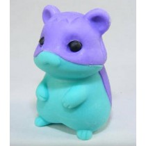 Iwako Purple Blue Hamster Japanese Eraser
