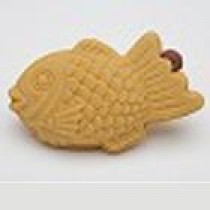 Iwako Brown Japanese Fish Shape Pancake (Taiyaki) Erasers